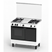 3 Gas Burners Freestanding Cooker (Gas Oven Cooker)