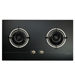 78cm Pure Black Design Glass Hob